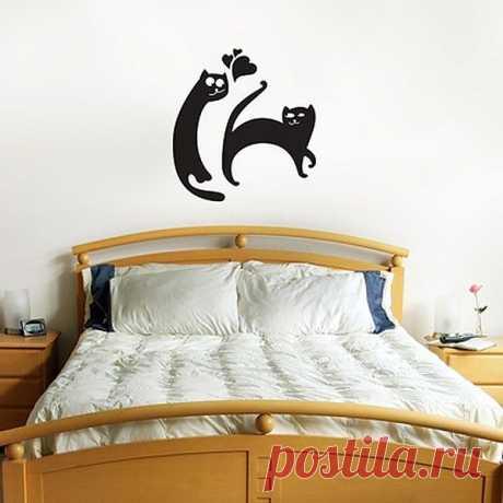 Коты в декоре стен(трафик)