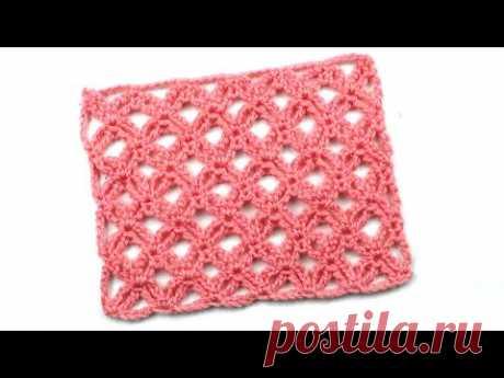 Ажурный узор Двойная сеточка Openwork double mesh pattern