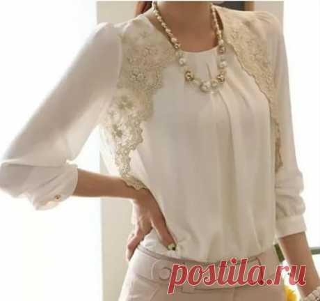 Актуальный тренд: 15 белых блузок, без которых не обойтись! | Тысяча и одна идея