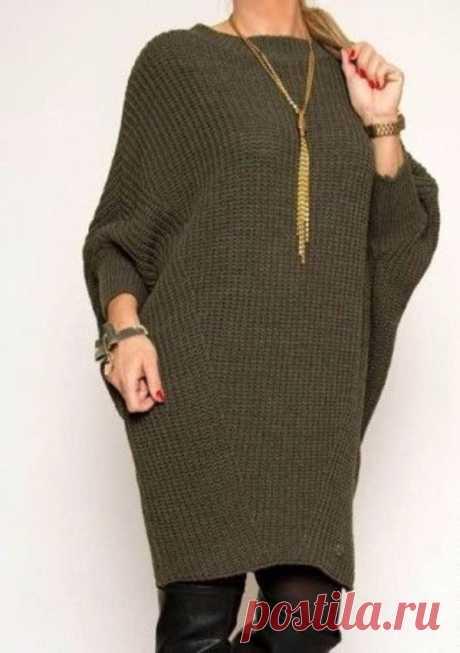 Вязаное платье оверсайз