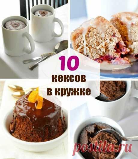 Кекс в микроволновке за 2 минуты: 10 лёгких рецептов кексов в кружке!