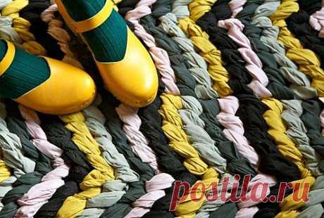 Коврик из узлов / Коврики / Модный сайт о стильной переделке одежды и интерьера