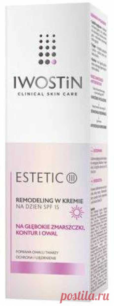 IWOSTIN Estetic III Remodeling cream for the day SPF15 40ml Improving the contour and face oval and significant firming of mature skin marked by deep wrinkles. This goal will be achieved thanks to the unique Remodeling skincare formula for day cream SPF15 Iwostin Estetic III UK.