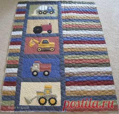 Randomness @ Piece N Quilt. A lovely quilt idea for a boy.