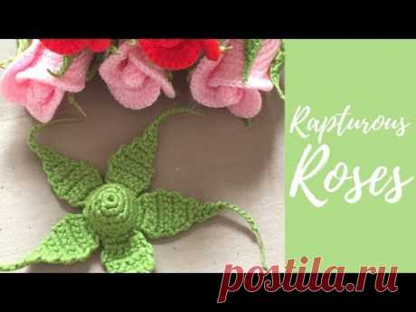 Вязание крючком маленькая Роза-часть 2