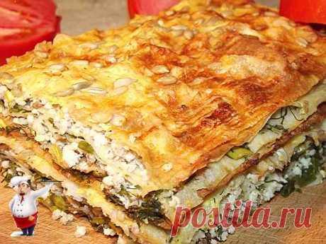 Пирог из лаваша с курицей и зеленью Ел пирог из лаваша, пела радостно душа! С курицей начинка в нём, зелень, соус всё при нём! Вкусно так, что дрожь у тела и восторгу нет придела!