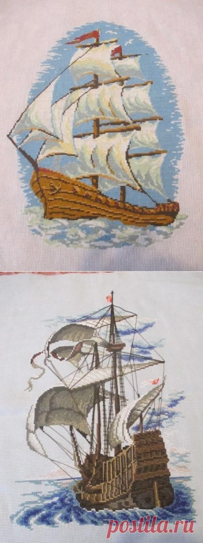 """Вышивка """"Корабли"""""""