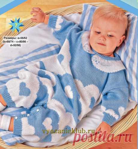 Комбинезон малышам от 0 до 1 года - Комбинезоны для детей - Каталог файлов - Вязание для детей