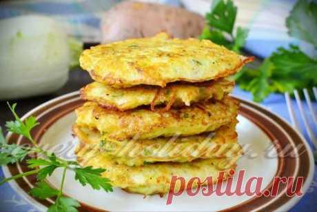 Оладьи из кабачков и картофеля, рецепт с фото