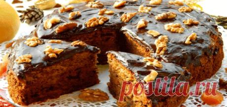 Чайный пирог с грецкими орехами и сухофруктами Подробнее...