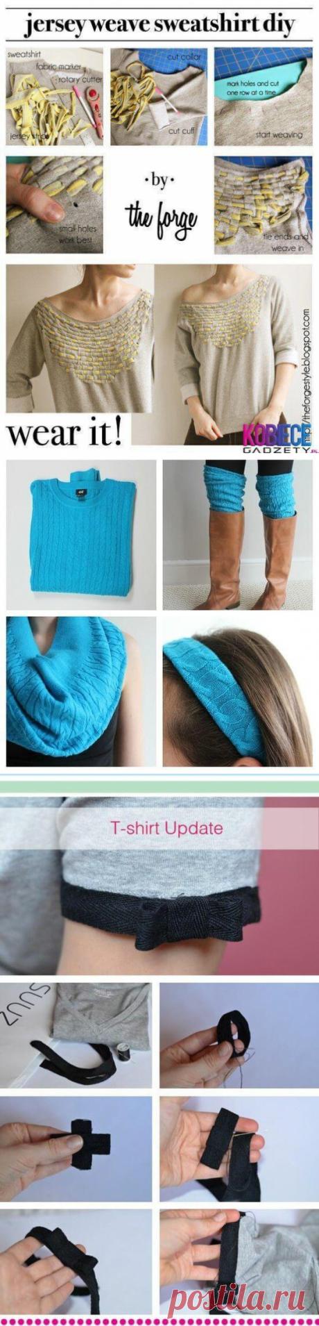 Не выбрасывайте старые свитера - море идей для переделки!   Тысяча и одна идея