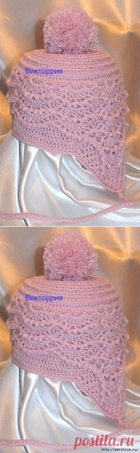 Детская весенняя шапочка *Розовая мечта*