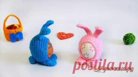 Пасхальный кролик Мими крючком (фото и видео мастер-класс)