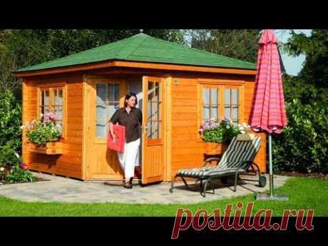 Небольшой дачный домик Дизайн садового домика