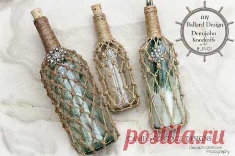 Красивый декор бутылки верёвкой — Сделай сам, идеи для творчества - DIY Ideas