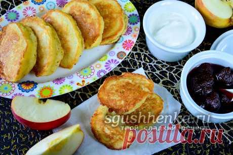 Яблочные оладьи - рецепт с фото пошагово, на сковороде, пышные, с манкой