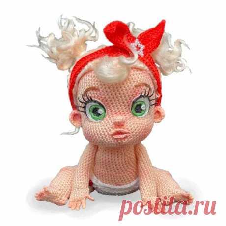 Вязаный пупс кукла амигуруми | Амигуруми