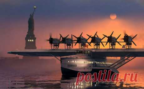 Грандиозный летающий дворец-лодка Дорнье