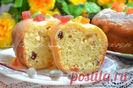 The recipe of an Easter cake without yeast