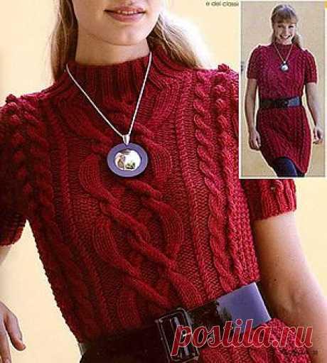 Нитка-клубок | Вязание модели и схемы | Платье с косами