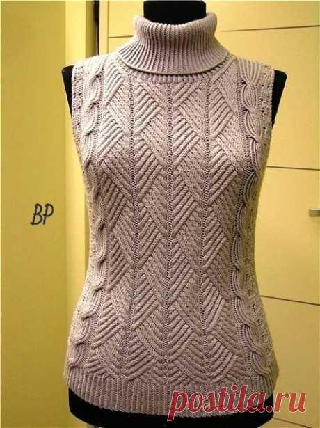 Шикарный пуловер или безрукавка , красивый узор