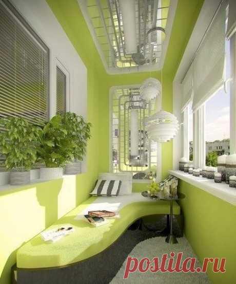 option of design of a balcony