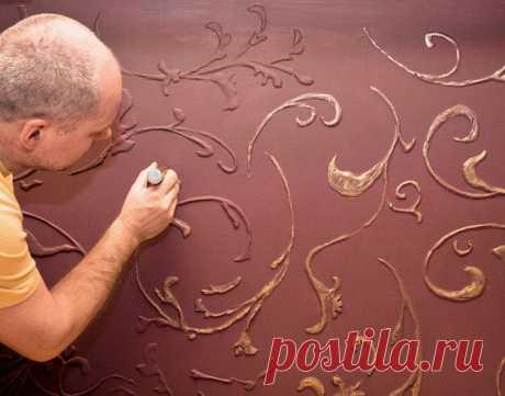 Объемные рисунки на стене своими руками: мастер-класс