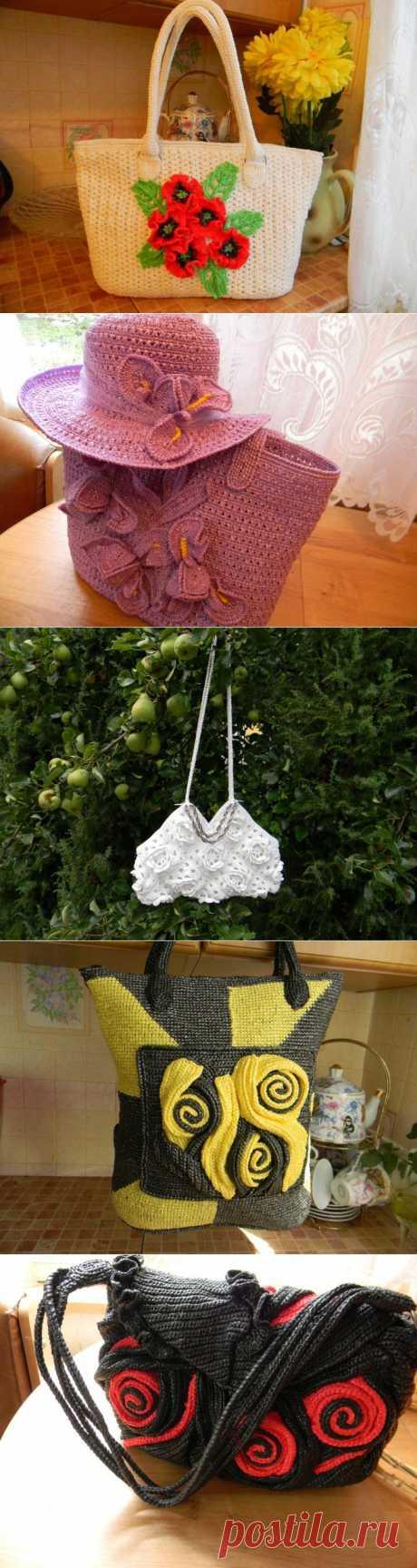 (+1) тема - Мои сумочки из пакетов для мусора.Хвастаюсь!!!! | РУКОДЕЛИЕ