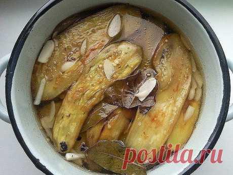 Очень вкусные маринованные баклажаны. Рецепт на века!.