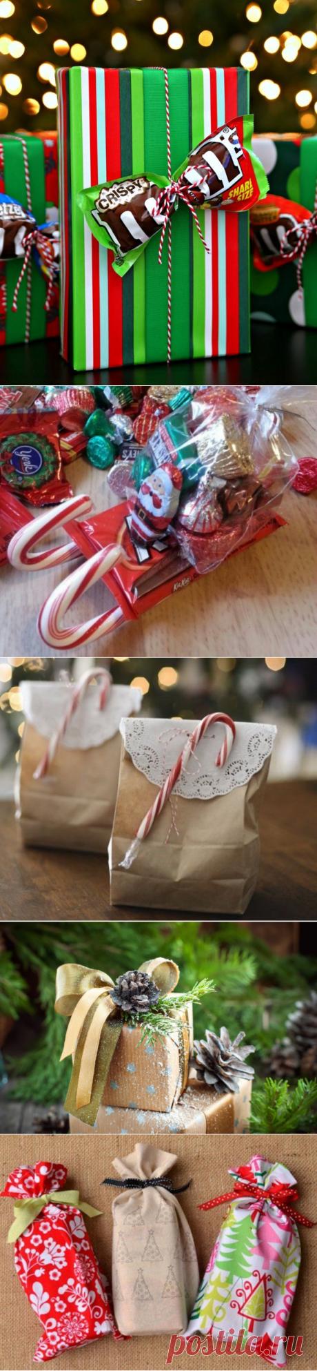 Как красиво упаковать подарок на Новый год и Рождество