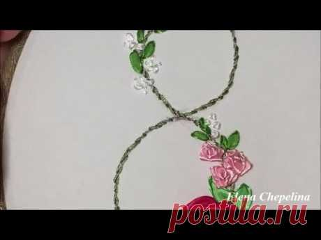 Простая вышивка лентами, цветы из ленты своими руками