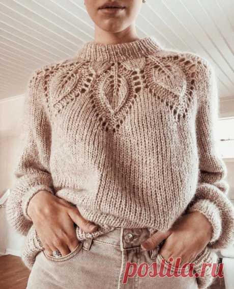 110+ схем свитера спицами с описание вязания