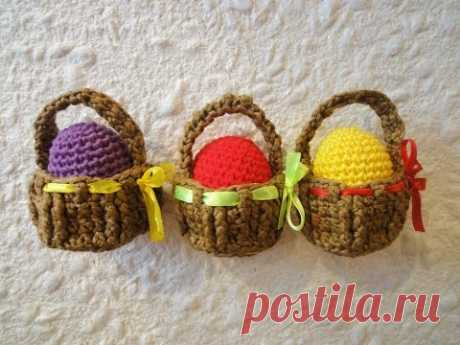 El canastillo Easter de Pascua basket Crochet