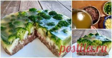 """Закусочный мясной торт """"Леший"""" — невероятная подача праздничного блюда ..."""