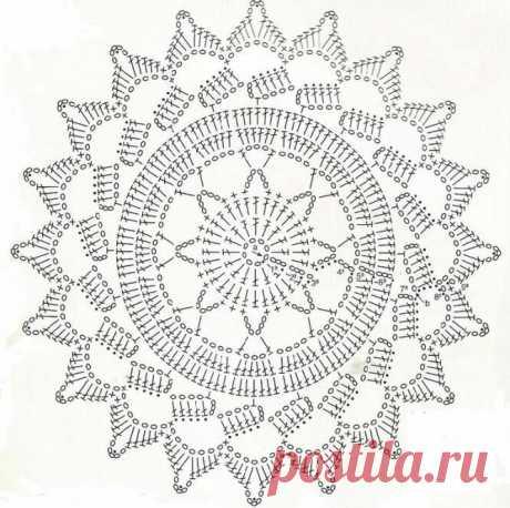 Схемы красивых салфеток крючком. | Цветы из бумаги. | Яндекс Дзен