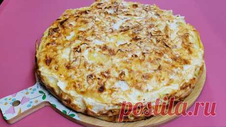 Пирог из лаваша с яблоками (быстро, просто и тесто делать не надо) | Розовый баклажан | Яндекс Дзен