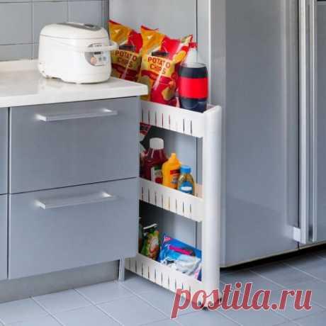 Выдвижная этажерка узкая, 54,5 х 12,5 х 72 см — купить по цене от 1690 руб.