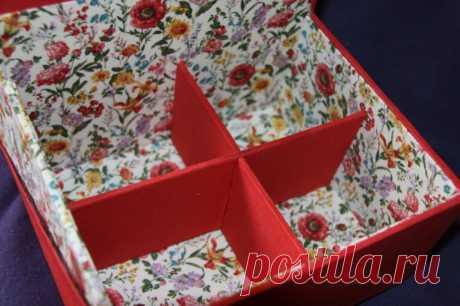 """Как переделать картонную коробку в полочку, которая украсит любую комнату - Журнал """"Сам себе изобретатель"""""""