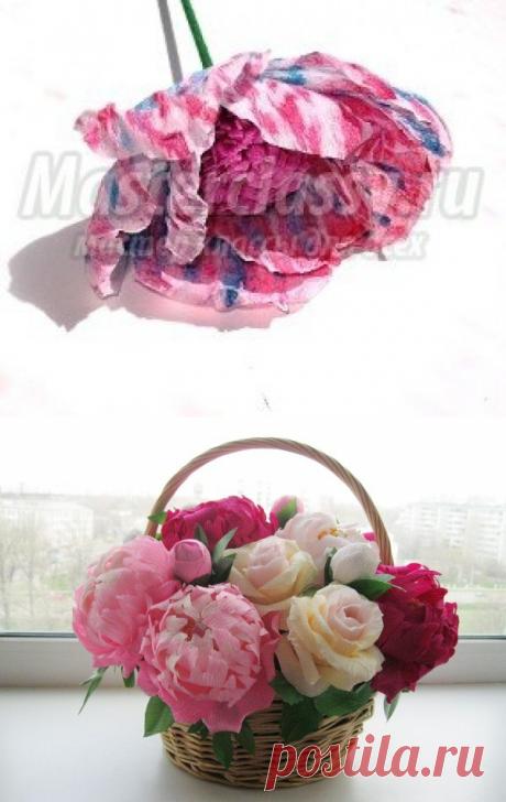 цветы из гофрированной бумаги своими руками тюльпаны с конфетами видео - Портал для самоучек