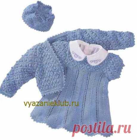 Платье для девочки до 1,5 года - Для детей до 3 лет - Каталог файлов - Вязание для детей