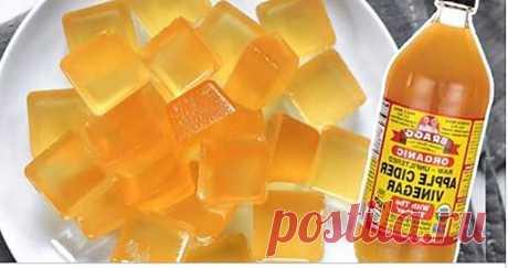 Используйте яблочный уксус в виде удивительных желатиновых сладостей!