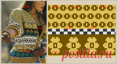 схемы для вязания интересных кофточек