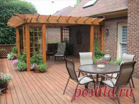 Патио на даче: виды, уютные идеи дизайна (43 фото)