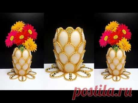 Ide Kreatif Vas Bunga dari Sendok Plastik ! Plastic spoon craft ideas | Plastic spoon flower vase