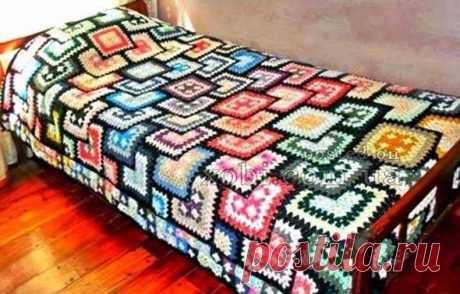 ПЛЕД PATCHWORK-GRANNY-DECKE