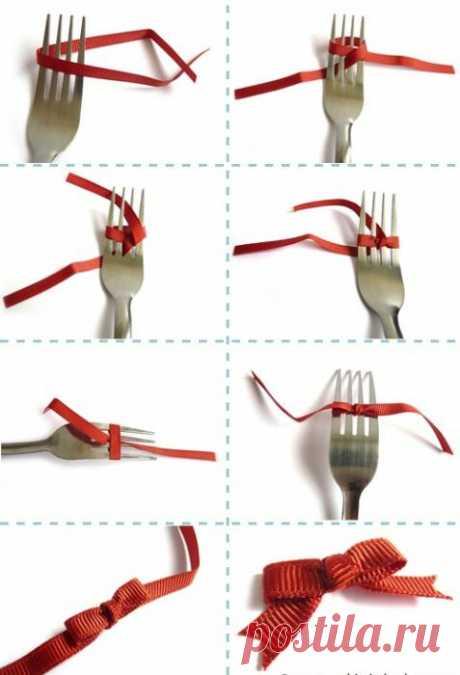 Как сделать бантик на вилке. Три способа по завязыванию бантиков на вилке :: SYL.ru