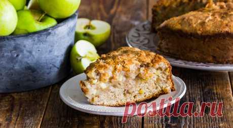 Яблочный пирог на кефире, пошаговый рецепт с фото