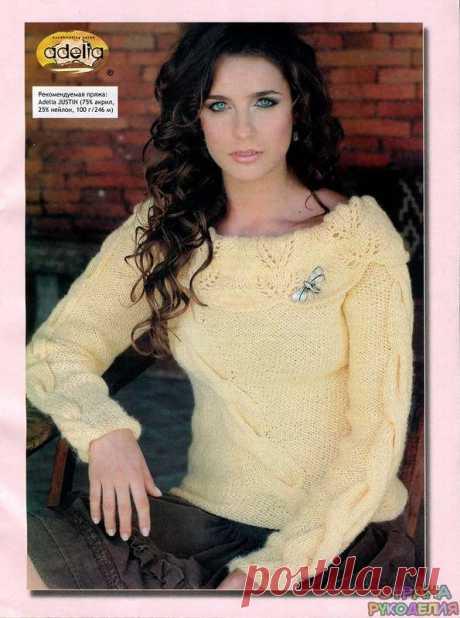 Желтый пуловер - Жакеты,Пуловеры, свитера - Страна рукоделия