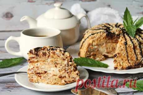 Торт из пряников с бананами и сметаной рецепт с фото пошагово - 1000.menu