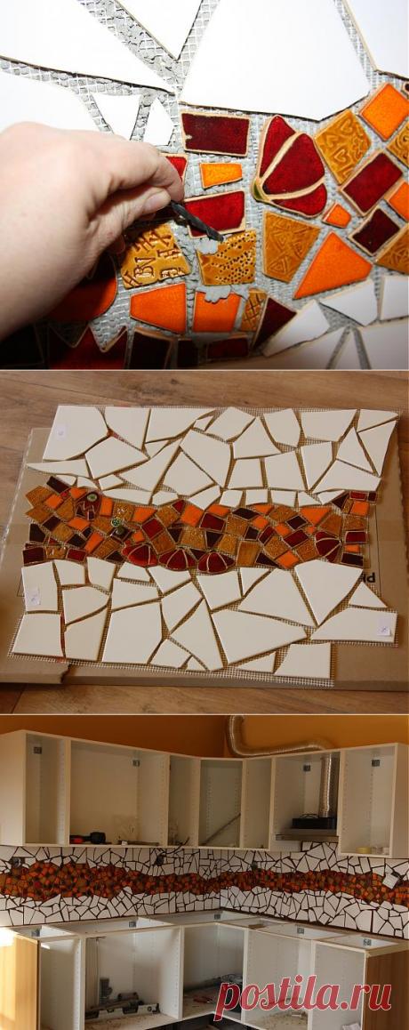 Декор кухонной стены мозаикой — Наши дома